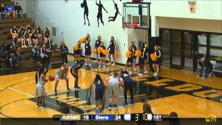 11/24/2015 Adrian College Women's Basketball vs. Siena Heights University
