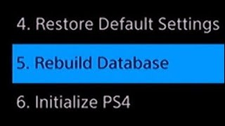 PS4 How to Rebuild Database with Safe Mode