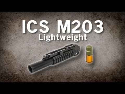 Airsoft GI - ICS M203 Lightweight Polymer Grenade Launcher with 40mm Grenade Shell Review!