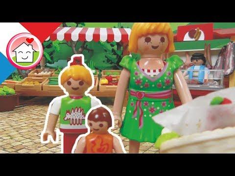 Playmobil en français Sur le marché - La famille Hauser / film pour enfants