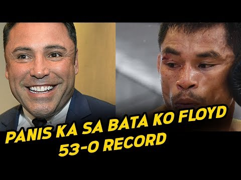Floyd Mayweather PANIS Ang RECORD Sa Bata Ni De La Hoya | Pinapirma Na Ni Goldenboy