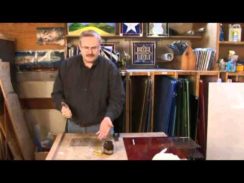 Hand Held Cutter Stained Glass Cutting Demonstration