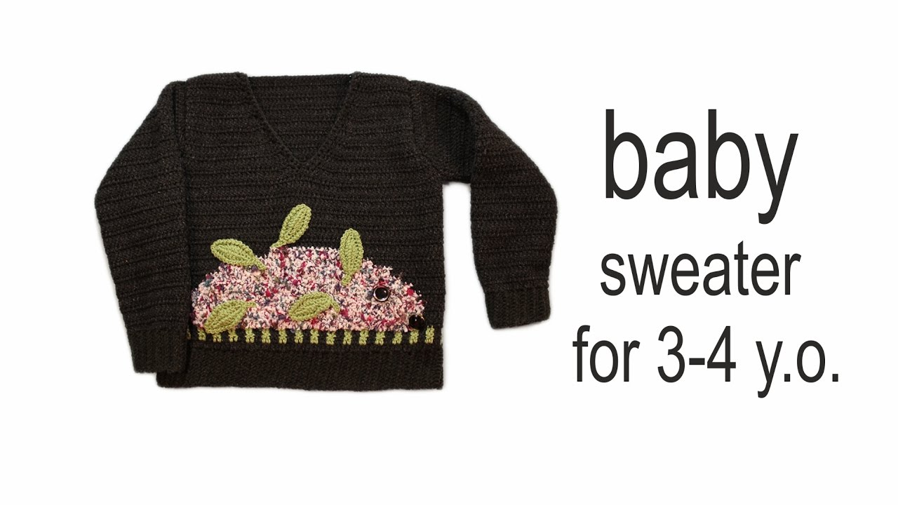 b737028c4287 How to crochet baby sweater for 3-4 y.o. part 1 2 WWWIKA crochet ...