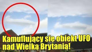 Obiekt UFO ukrywający się pod postacią chmury?