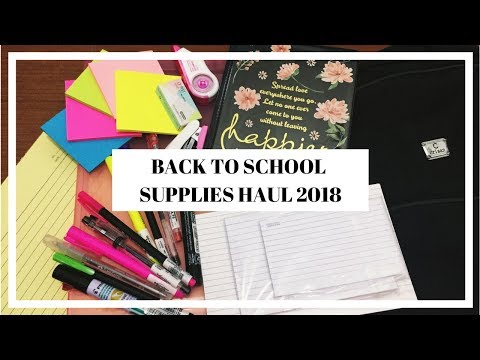 BACK TO SCHOOL SUPPLIES HAUL 2018 (Philippines)  | Vy Arizo