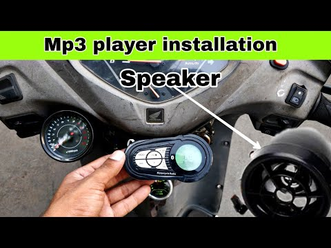 Mp3 music system installation on all bikes and scooters   Honda Activa 3g