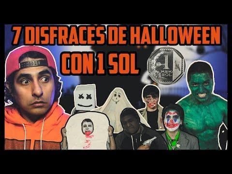 7 DISFRACES PARA HALLOWEEN CON 1 SOL ( MENOS DE $1.00 )