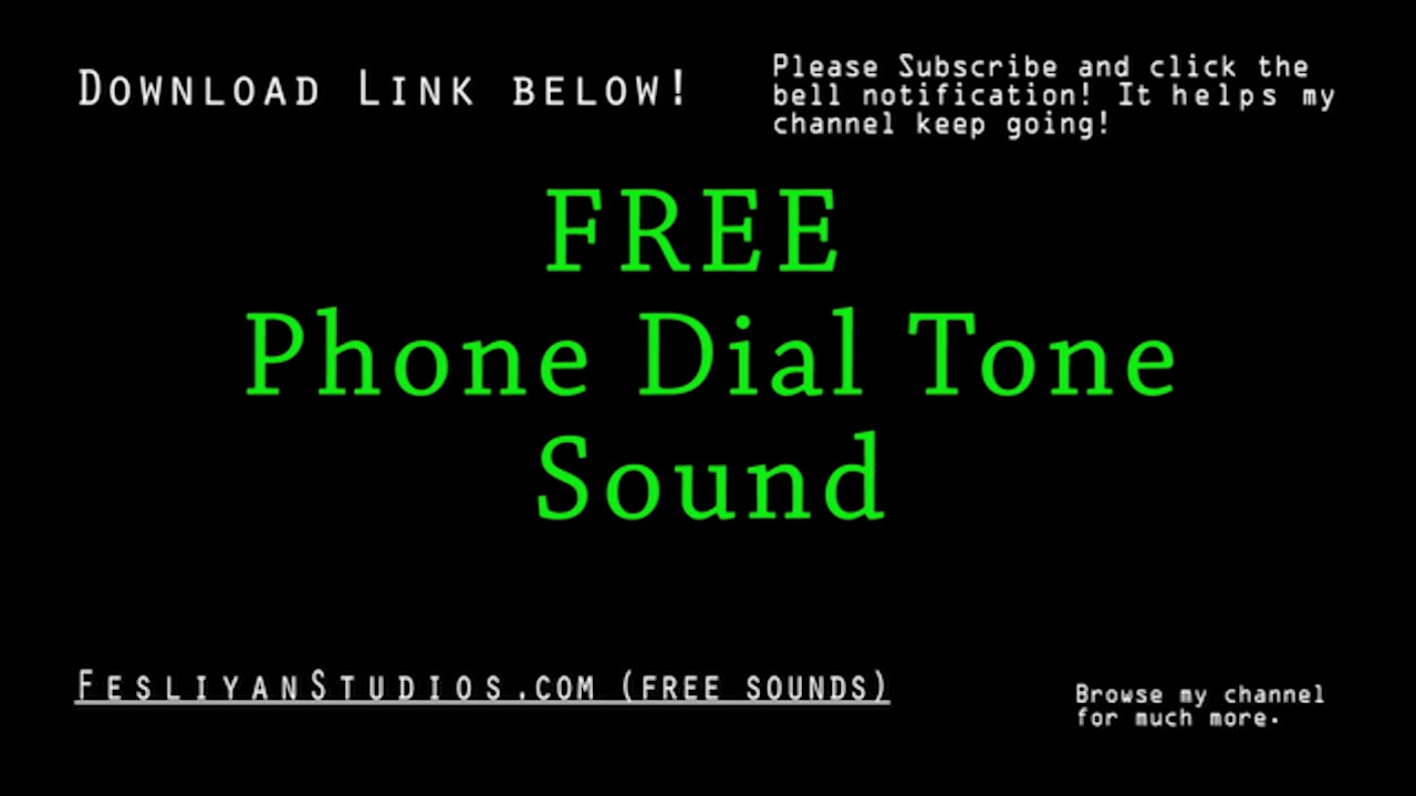 Free Phone Dial Tone Sound Effects | MP3 Download