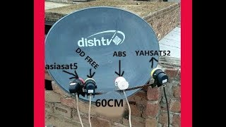 Asiasat5 .DD FREE DISH .ABS AND YAHSAT ON 60 CM DISH SET PAR