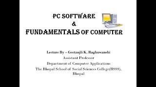 PC Software & Fundamentals of computer