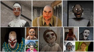 Caught Battle | Granny*Evil Nun*Mr.Meat*Dread Teacher*IT Clown*Evil Spongebob*Slendrina + More.
