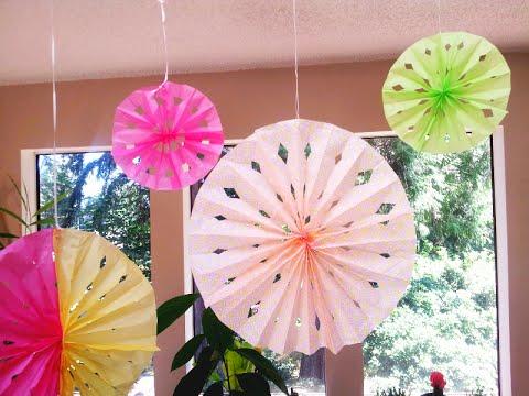 Diy tissue paper rosette fans youtube diy tissue paper rosette fans mightylinksfo