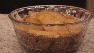 63. Pear & Walnut Chops, Balsamic Glazed Butternut, Garlic Pilaf, Brandied Pear Bleu Cheesecakes