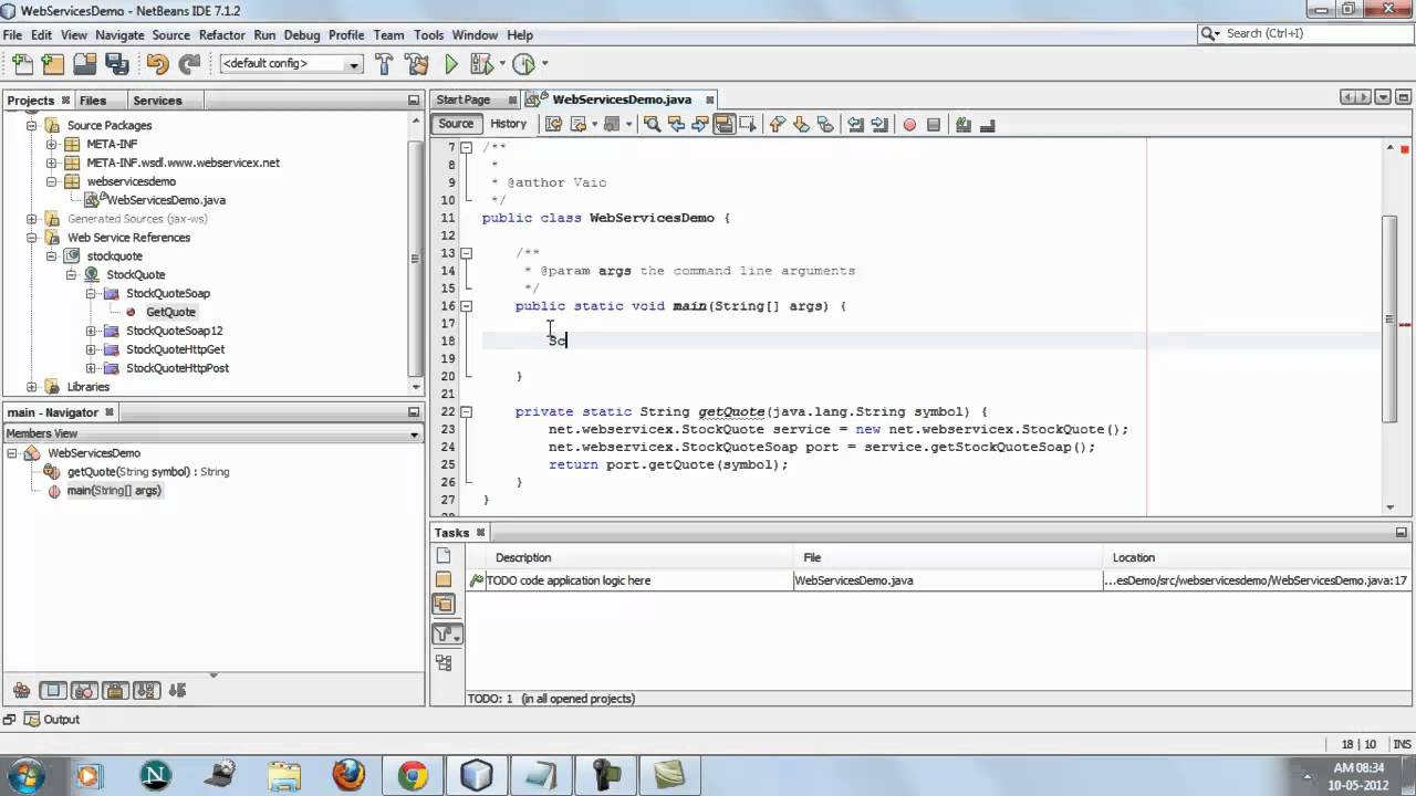 Consuming a Web Service using netbeans 7 1 IDE mp4