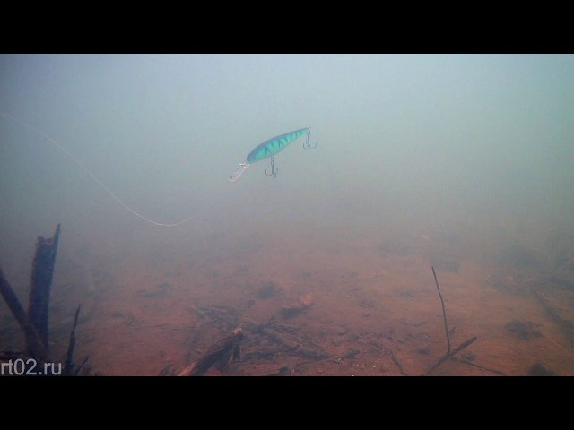 Недорогая копия воблера Aiko Sledge с Aliexpress (подводная съемка)