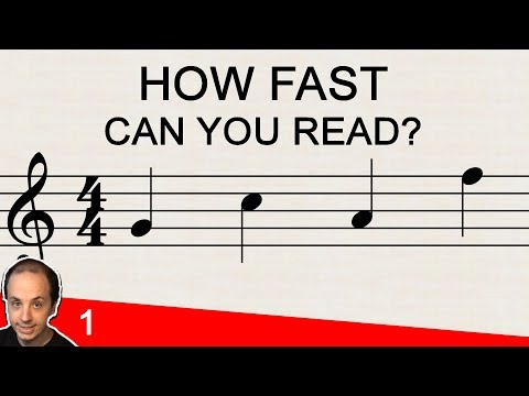 Reading Notes on the Staff: Music Note Reading Challenge 1