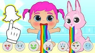 BABY PETS Ruby se hace fotos con Snapchat 💥 Dibujos animados infantiles