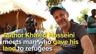 Author Khaled Hosseini meets man who gave his land to refugees