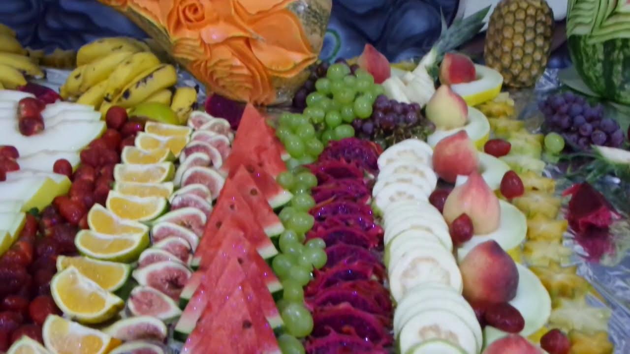 Mesa de fruta para ceia youtube - Adornos de frutas para mesas ...
