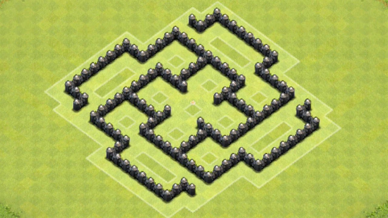 Defense coc th6 best farming base layout defense strategy youtube