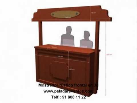 Mostradores de madera rusticos mostradores barras de bar for Barras en madera para bar