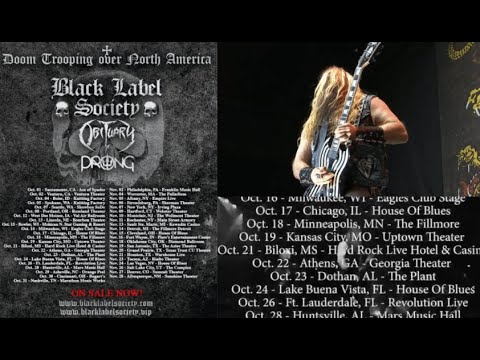 Black Label Society 2021 Tour w/ Obituary and Prong. DOOMTROOPING across America
