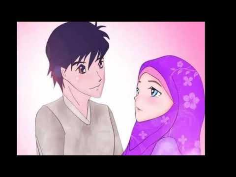 Koleksi 780  Gambar Animasi Romantis Berhijab  Free
