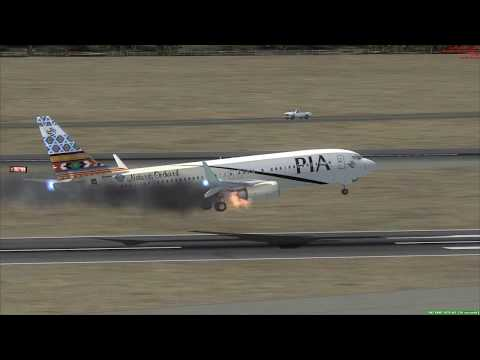 MAYDAY Emergency Landing at Istanbul PIA 737-800 Engine Fire ++ FSX ++