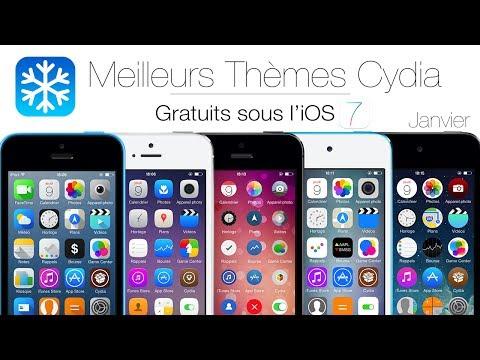 Meilleurs Themes Cydia Gratuits sous l'iOS 7 (iPhone / iPod Touch)   Janvier 2014