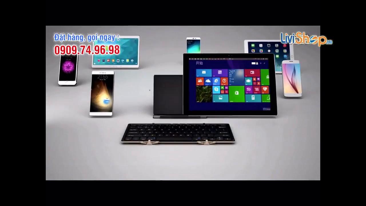Bàn phím Bluetooth Full Size BOW HB099 Xếp Gấp Nhỏ Gọn (Dual Mode : Bluetooth/Wired – Backlit)