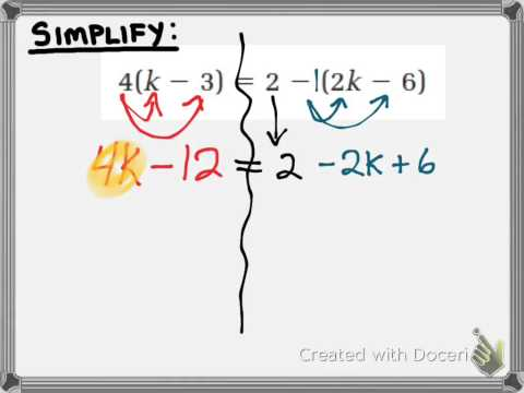 3.2 - How to Solve Equations with Distribution - MPM1D Grade 9 Math