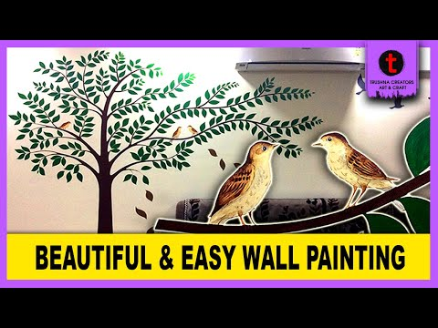 diy-|-simple-wall-painting-ideas-for-living-room