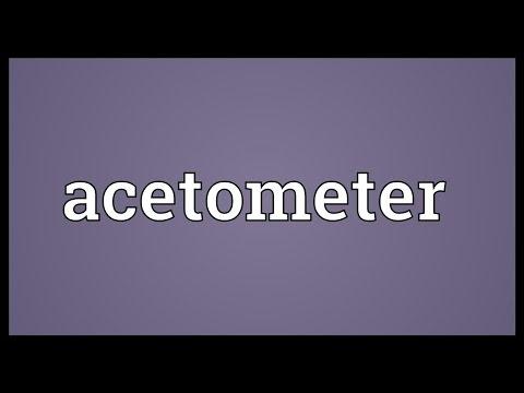 Header of acetometer