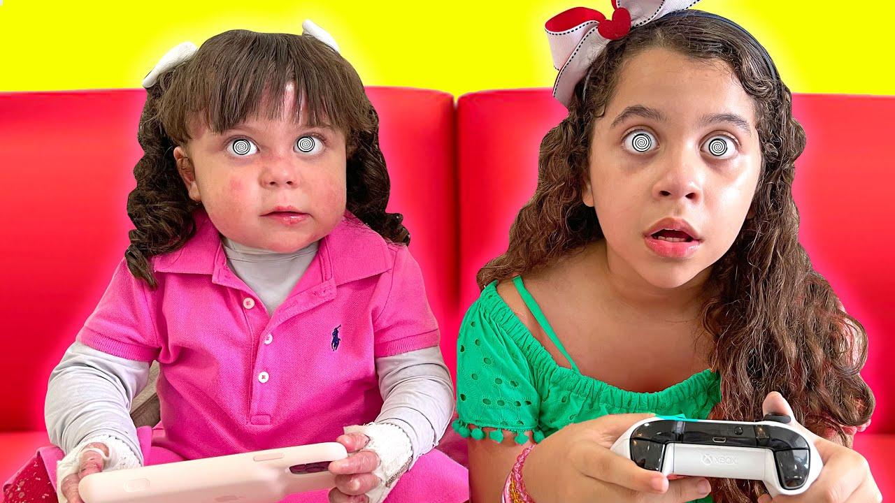 SARAH E ELOAH ficam HIPNOTIZADAS com jogos eletrônicos