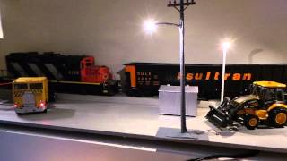 4 ways on night time diorama
