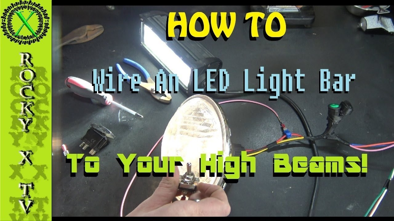 Wiring Driving Lights To High Beam Switch Great Installation Of 4x4 Spotlight Diagram 3 Way How Wire Your Light Bar Work With Rh Youtube Com Schematic A Simple