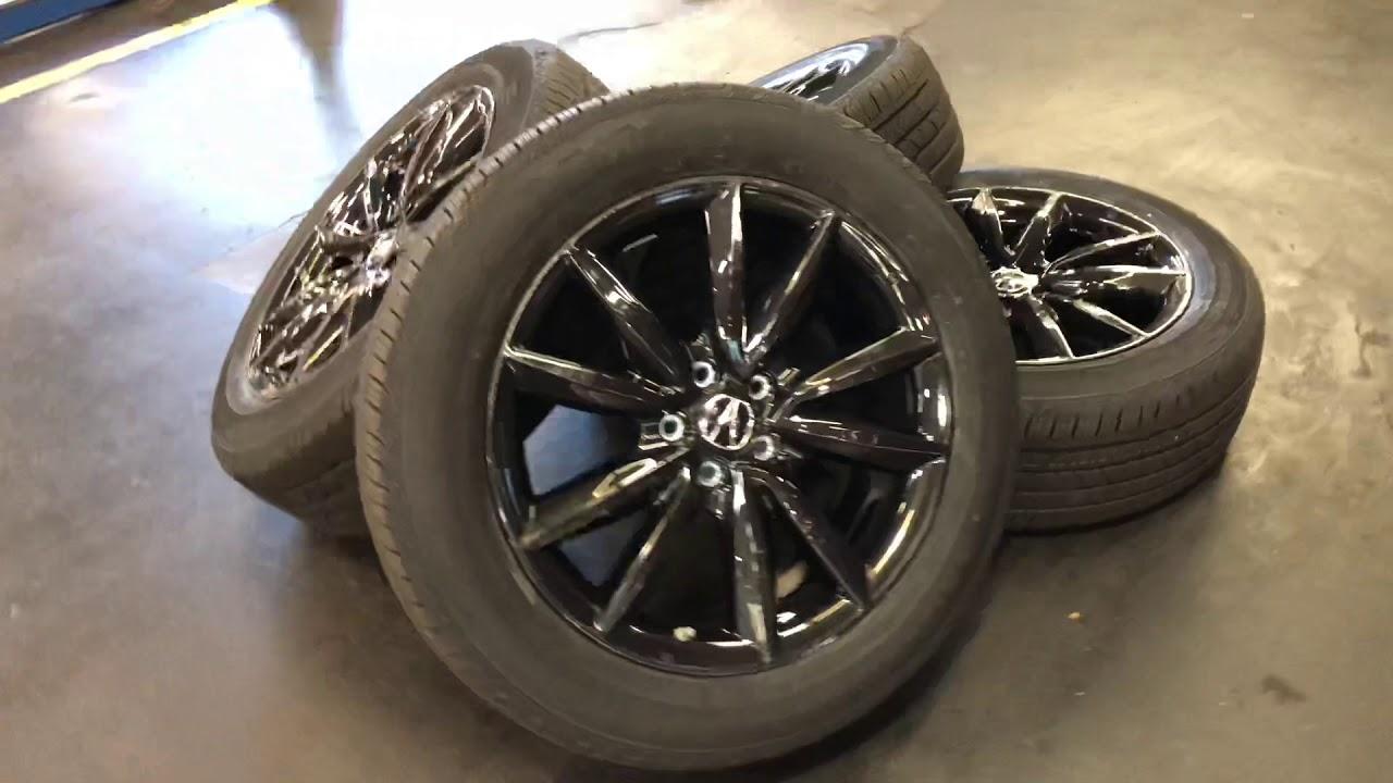 2019 Acura Rdx Accessories 19 Glint Black Wheels Dm Youtube