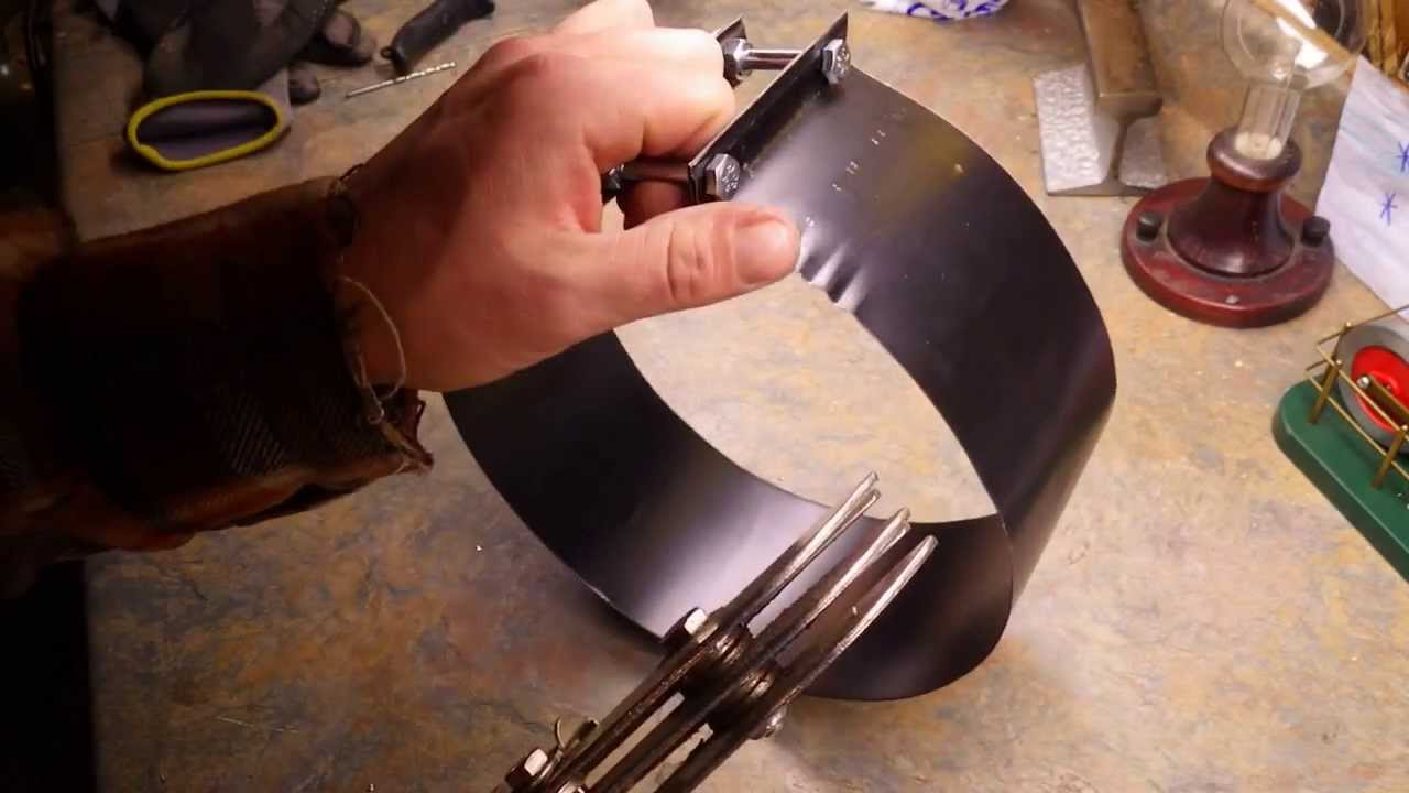 Homemade Chimney Pipe Clamps Youtube
