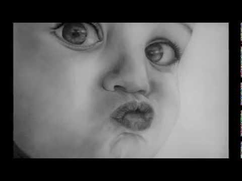 Portrait dessin bisou b b youtube - Dessin de bisous ...