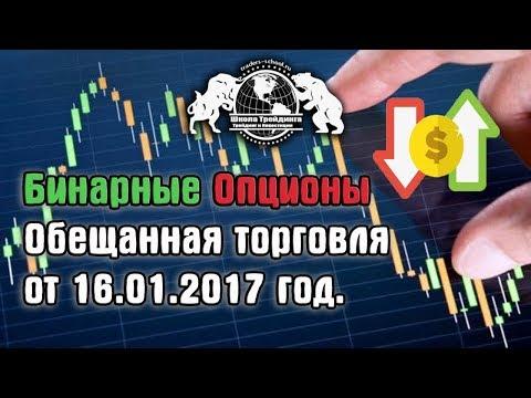 Бинарные Опционы - обещанная торговля от 16.01.2017 год.