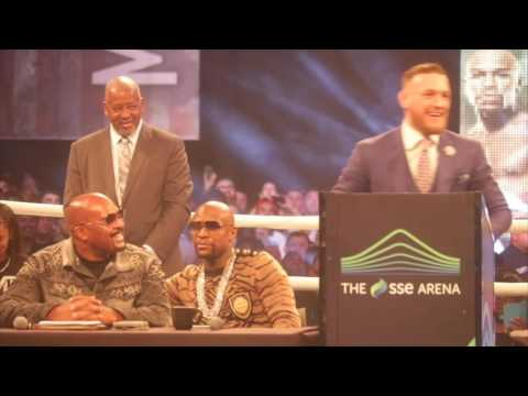 CRAZY!! - FLOYD MAYWEATHER v CONOR McGREGOR - (FULL) LONDON PRESS CONFERENCE & HEAD TO HEAD