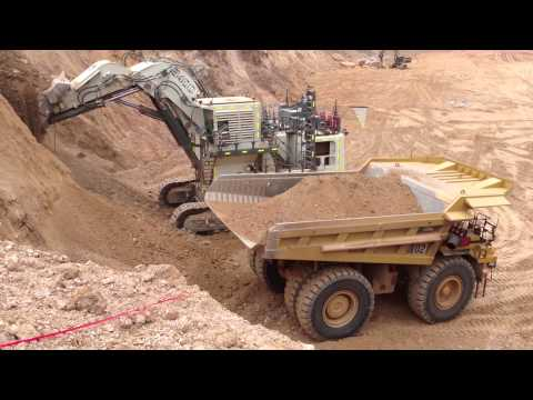 Liebherr 9400 and Cat 785c in West Africa