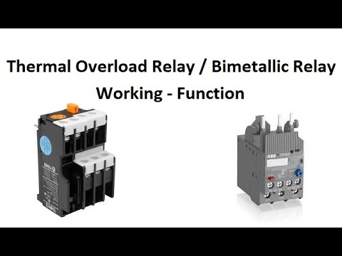 Thermal Overload Relay / Bimetallic Relay Working - Function - YouTube