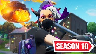 NOUVEAU SEASON 10 Gameplay! NOUVEAU SEASON 10 BATTLE PASS SKINS (Fortnite Battle Royale SEASON X LIVE)
