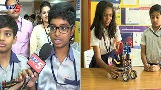 Robotic Expo In Chirec International School At Kondapur | Hyderabad | TV5 News