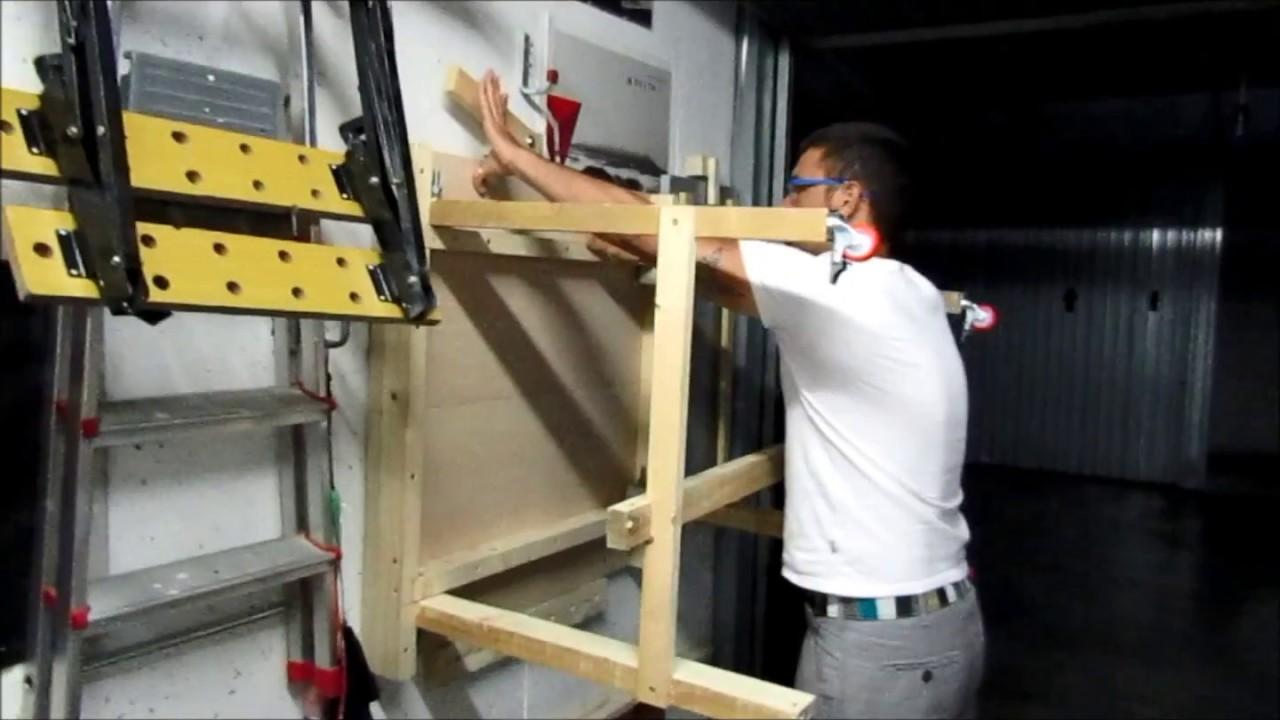 Banco Di Lavoro A Scomparsa : Banco da lavoro pieghevole fai da te foldable workbench diy last
