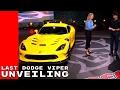 The Last Dodge Viper Unveiling