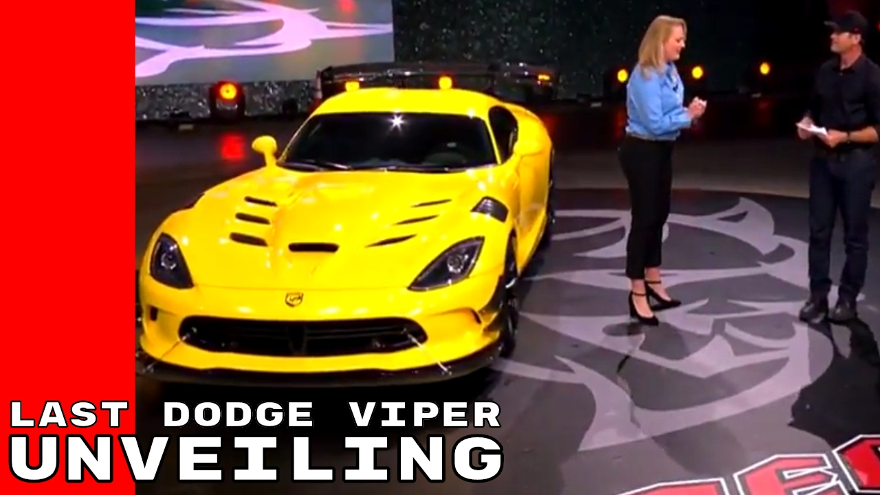 The Last Dodge Viper Unveiling Youtube