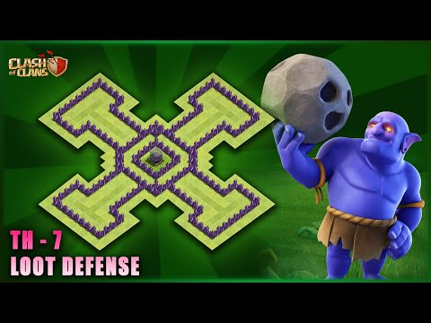 Best Town Hall 7 {th-7}  Loot Protection Base I Clash Of Clans