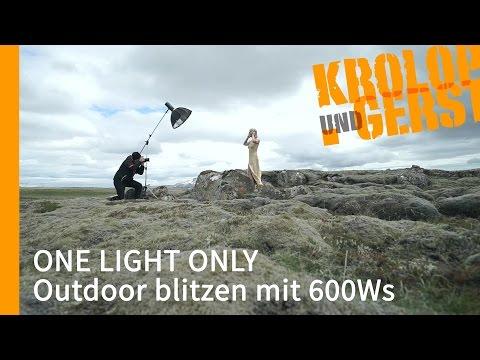 One Light Outdoor blitzen mit 600Ws ⛅ OUTDOOR ⛅  Krolop&Gerst